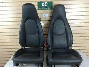 Porsche 997 987 Cayman Boxster Grey Leather Seat Set 011