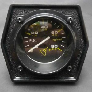 Nos 2 Mechanical Oil Pressure Gauge 0 80 Military Style Chevy Gm Hot Rod Ford
