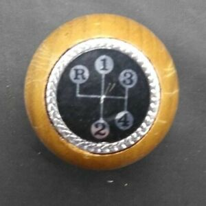 Vintage Nos Woody Wooden Shift Knob 3 4 Speed Reverse 60 S 80 S Chevy Gm Ford