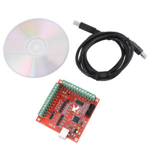 Usb Mach3 100khz Motion Controller Card Board For Cnc Engraving Brand New