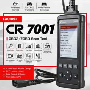 Launch Creader Cr7001 Auto Code Reader Obd2 Eobd Diagnostic Scanner Oil Reset