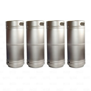 Set Of 4 1 6 Barrel Stainless Steel Beer Keg 5 16 Gallon Sanke D Spears Sixtel