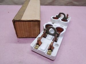 New Vintage Steampunk Leviton 9898 Screw In Fuse Holder Disconnect Knife Switch