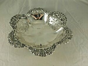 Vintage Durgin Sterling Silver Repousse Bowl 705a