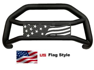 Us Flag Star Bumper Guard Fits 2016 2021 Toyota Tacoma Matted Black Bull Bar