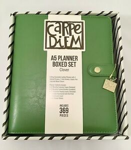 Simple Stories Carpe Diem A5 Planner Boxed Set W inserts Accessories Clover