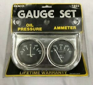 Vintage Nos 2 Chrome Oil Pressure Amperes Amp Dual Gauge 1922 Chevy Gm Ford