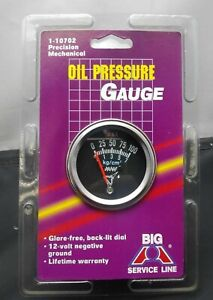 Vintage Nos 2 Chrome Mechanical Oil Pressure Gauge 0 100 Chevy Gm Ford Hotrod