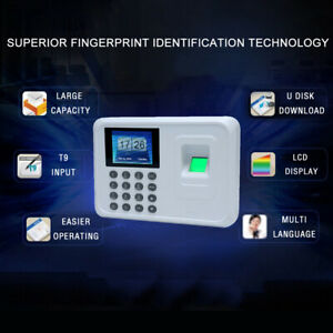 A5 Biometric Fingerprint Password Attendance Machine Checking in Recorder H0j7