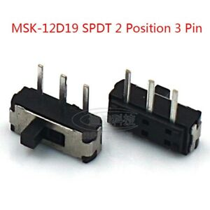 On off Micro Slide Switch Spdt 2 Position 3 Pin Pcb Panel Microswitch Smd Switch