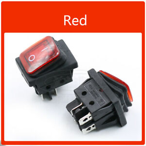 4 Pin On off Rectangle Waterproof Rocker Switch Car Van Boat Led Switch 16a 250v