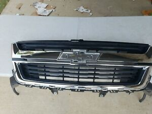 2015 2016 2017 2018 Chevrolet Colorado Front Radiator Grille Grill Chrome Oem