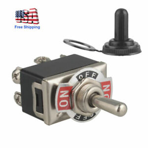 Heavy Duty 20a 250v Dpdt 6pin On off on Toggle Switch Maintained 3 Position boot