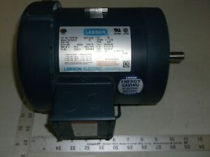 Leeson 110181 00 1 Hp 3450 Rpm 3ph 230 460 V Fr 56c Model C6t34fk1f