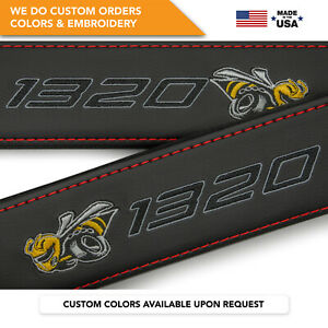 Dodge Scat Pack 1320 Angry Bee Embroidery Seat Belt Covers Shoulder Pads 2 Pcs