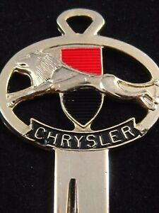Chrysler Lion Crest Gold Silhouette Signet Key Blank Fits 1956 1967 300 Newport