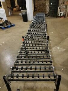 Best Flex 300 Roller Skate Gravity Conveyor Expandable 6 4 To 20 6 X 24 Wide