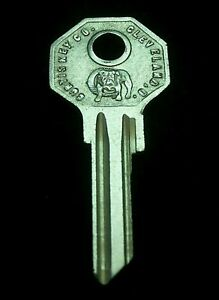 H1199 Chrysler Ignition Doors Key Blank 1935 1937 1938 Some Airflow Also