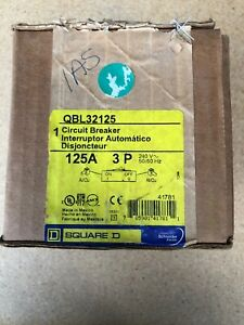 Qbl32125 Square D Circuit Breaker 3 Pole 125 Amp New In Box