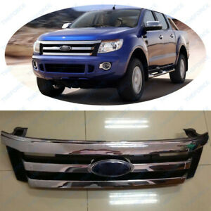 Front Bumper Chrome Grille Fit For Ford Ranger T6 2012 2014 Original Tsy01 262