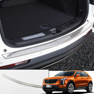 Steel Outer Rear Bumper Protector Plate Molding Trim For Cadillac Xt4 2018 2019