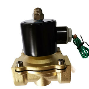 1 Electric Solenoid Valve Switch Water Air Fuel Brass N c Fast Acting 145 Psi