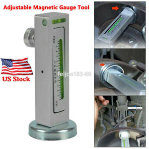 Magnetic Gauge Tool Truck Car Camber Castor Strut Wheel Alignment Measurement