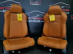 2003 Nissan 350z Front Driver Left Passenger Right Bucket Seats Leather Brown