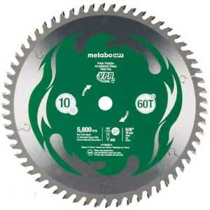 Metabo hpt 115435m 10 Miter Saw table Saw Blade 60t Fine Finish Carbide New