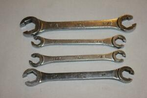 Lot Of 4 Mac Tools 6 Pt Flare Nut Wrenches Sae Fractional