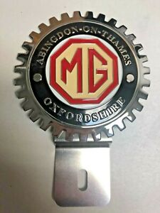 New Vintage Mg Oxfordshire License Plate Topper Chromed Brass great Gift Item