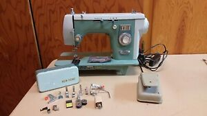 New Home Janome 444 Sewing Machine Heavy Duty Leather Upholstery Serviced Bundle