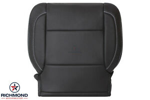 2016 2017 Chevy Tahoe Suburban Lt driver Side Bottom Leather Seat Cover Black