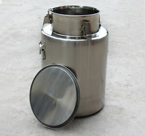 304 Stainless Steel Milk Can Wine Liquid Storage Milk Container 30kg Volume