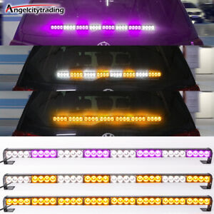 35 32 Led Traffic Advisor Emergency Hazard Warning Strobe Light Bar Amber White