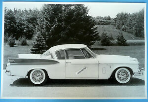1957 Studebaker Golden Hawk 12 X 18 Black White Picture