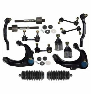 16 Pc Suspension Kit For Honda Accord 98 02 Control Arms Tie Rods Bellow Boots