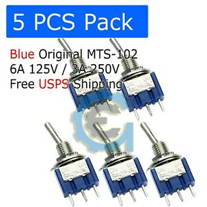 Us 5 X Mini 6a 125v Ac Spdt Mts 102 3pin 2 Position On on Toggle Switch Practic