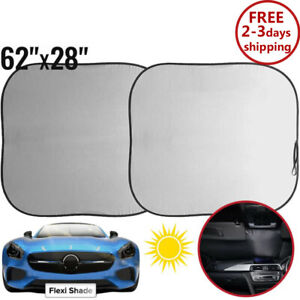 Car Windshield Sun Shade Protector Visor Auto Window Shield Blinds Front Kit New