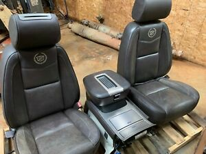 2008 2009 Cadillac Escalade Set Of Seats W console Brown Platinum Dvd Headrest
