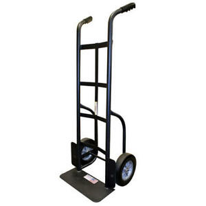 1000 Lb Capacity Dual Handle Hand Truck Heavy Duty Steel Puncture Proof Tire