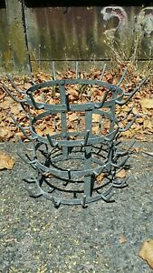 Antique French Wine Champagne Bottle Drying Hedgehog Rack 1930