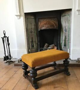 Old Heavy Wooden Bench Style Footstool As Found 22 Country House Style
