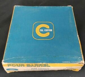 Vintage Nos Cal Custom Quality Four Barrel Air Cleaner Filter Cartridge Chevy Gm