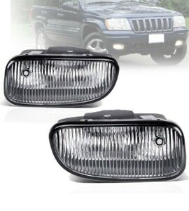 For Jeep Grand Cherokee 99 03 Factory Bumper Replacement Fog Lights Clear Lens