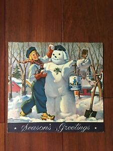 VTG 1951 DUTCH BOY PAINTS CALENDAR SEASONS GREETINGS~ WITH PAINTING TIPS IN BACK
