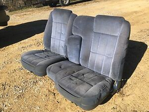 Ford Ranger Bronco Ii Blue 60 40 Split Bench Seat Interior Blue Cloth Velour