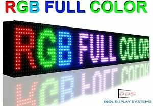 Wi fi Mobile App Programmable Full Color 6 X 50 Led Sign Outdoor Open Board
