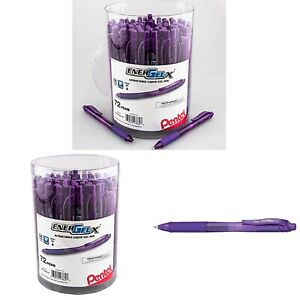Pentel Energel x Retractable Gel Pen 0 7mm Medium Line Red Ink 72 pk Canister