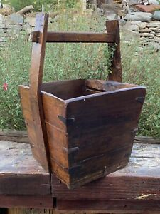 Antique Chinese Wooden Rice Bucket Handle